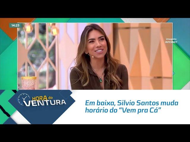 """Em baixa, Silvio Santos muda horário do """"Vem pra Cá"""""""