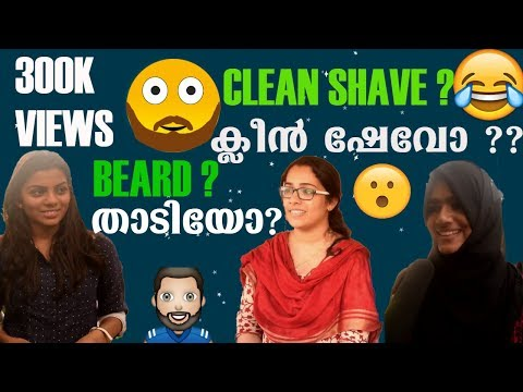 Beard Or Clean Shave ?   Kerala Girls Reaction   Doodle Malayalee