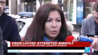 Louvre attack  Paris Mayor Anne Hidalgo thanks security forces for their  great efficiency