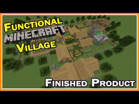 How To :: Functional Minecraft Village :: Finished Product :: Z One N Only
