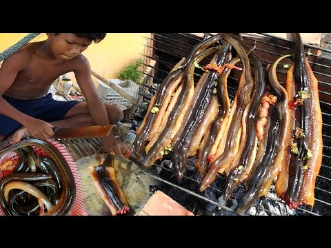Thumbnail: Amazing Two Children Cook Eel For Lunch - How To Cook Eel In Cambodia