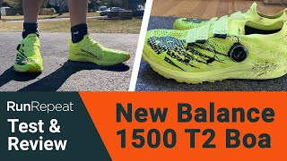New Balance 1500 T2 Boa test & review - A stability road racing shoe