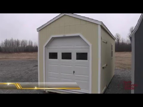 Sheds With Garage Doors Storage Sheds Motorcycle Atv