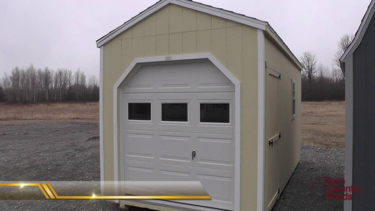 Sheds With Garage Doors Storage Sheds Motorcycle Atv