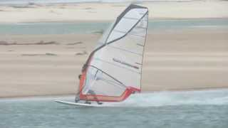 Windsurfing at Harrington NSW 24 May 2013