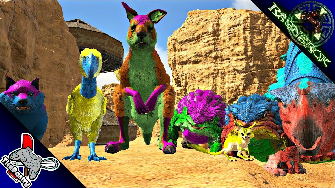 DESERT DINO EASTER EVENT TAMING!! COOLEST COLORS EVER!! - Ark: Ragnarok  [Gameplay E42]
