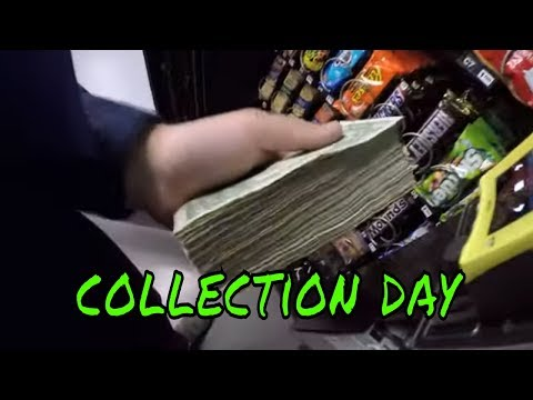 Collecting Cash From 6 Of My Vending Machines!!