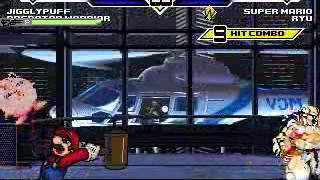 JS MUGEN Mario& Ryu vs  Jiggs&Predator