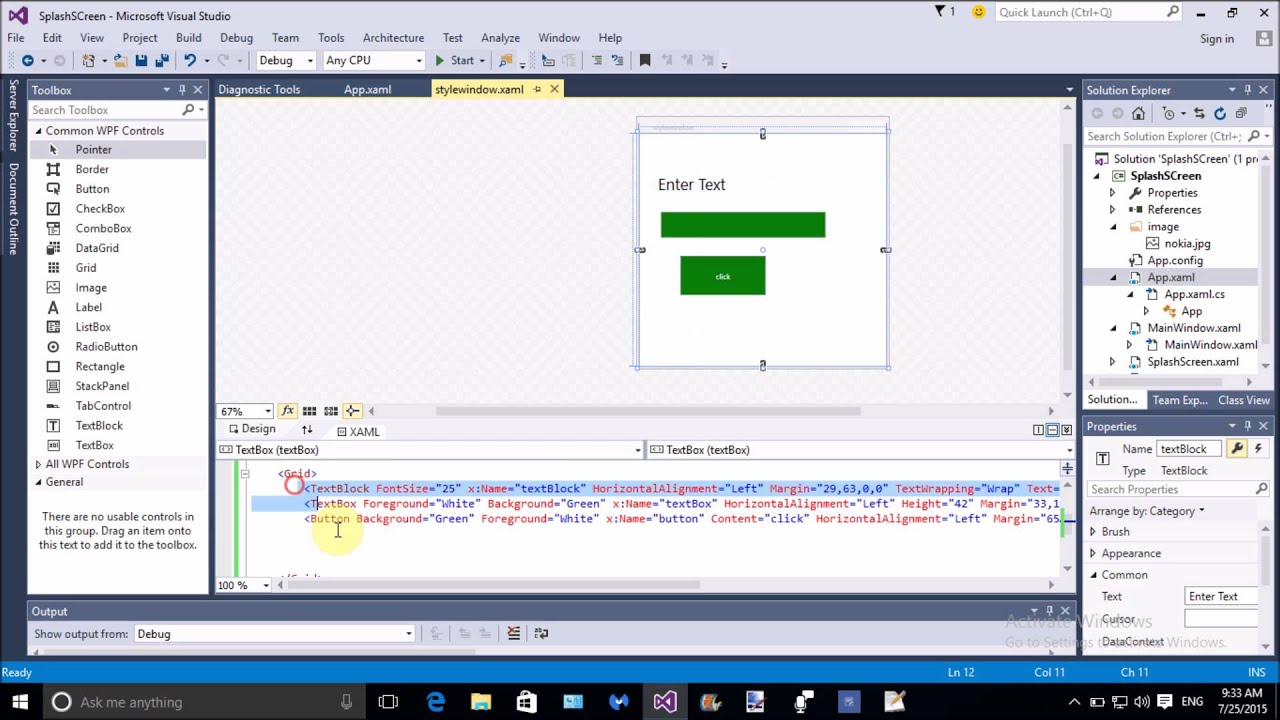 Add style in WPF example