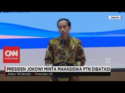 Jokowi Minta Mahasiswa PTN Dibatasi