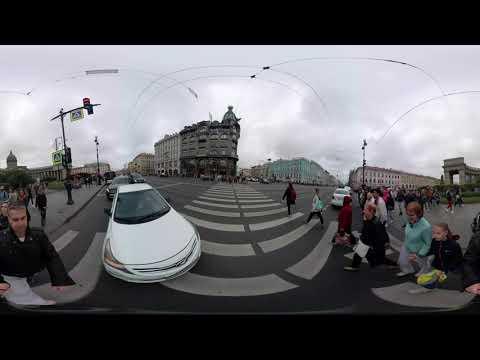 Прогулка по Невскому проспекту Часть 2 снятая на камеру 360 градусов.