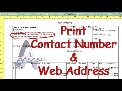 Print Company Contact Number on invoice in tally release 6.0.1 | Tally Tips and Tricks | Tally Crack