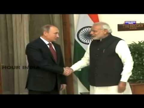 PM Narendra Modi meets Russia's Vladimir Putin