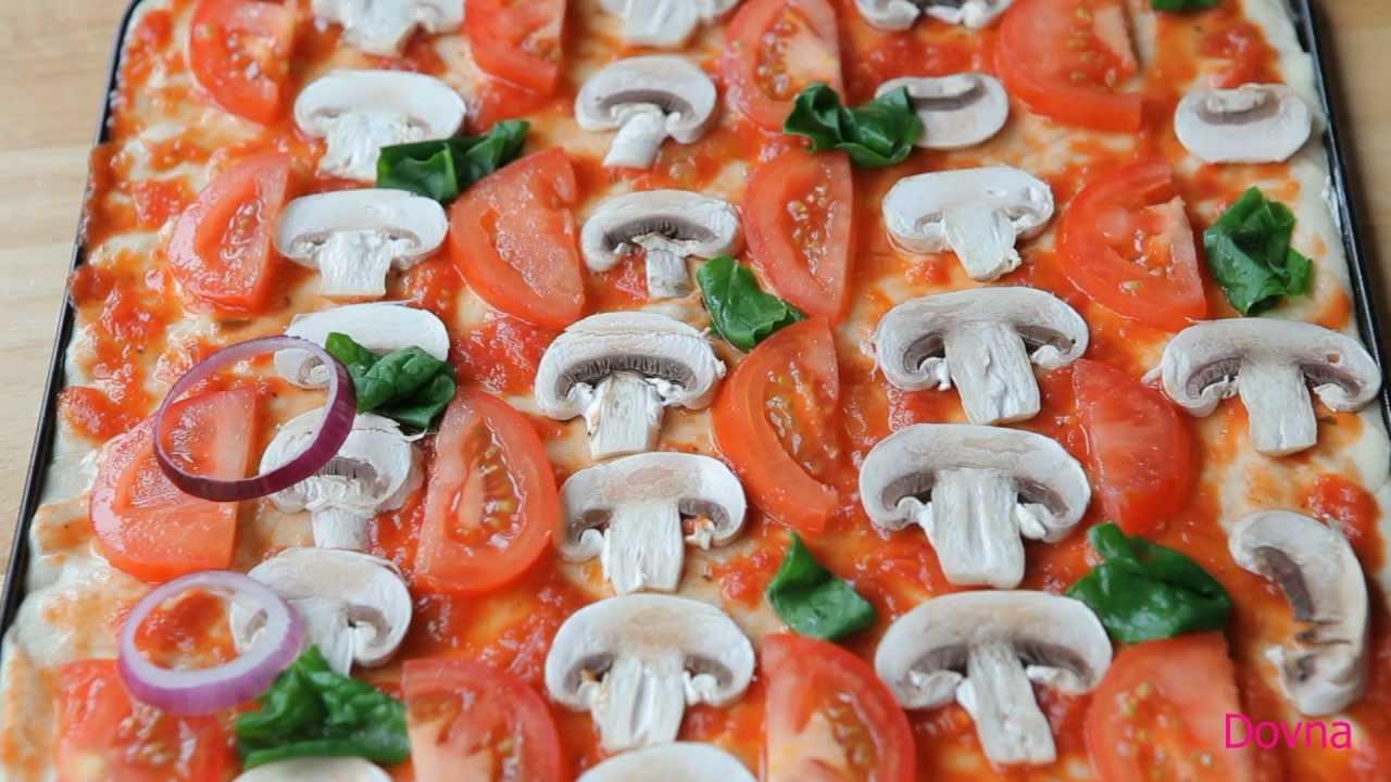 как сделать пиццу дома видео рецепт