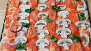 пицца  видео рецепт(приготовление пиццы дома рецепт теста пицца с грибами от Dovna Enterprises., 2011-10-10T23:51:44.000Z)
