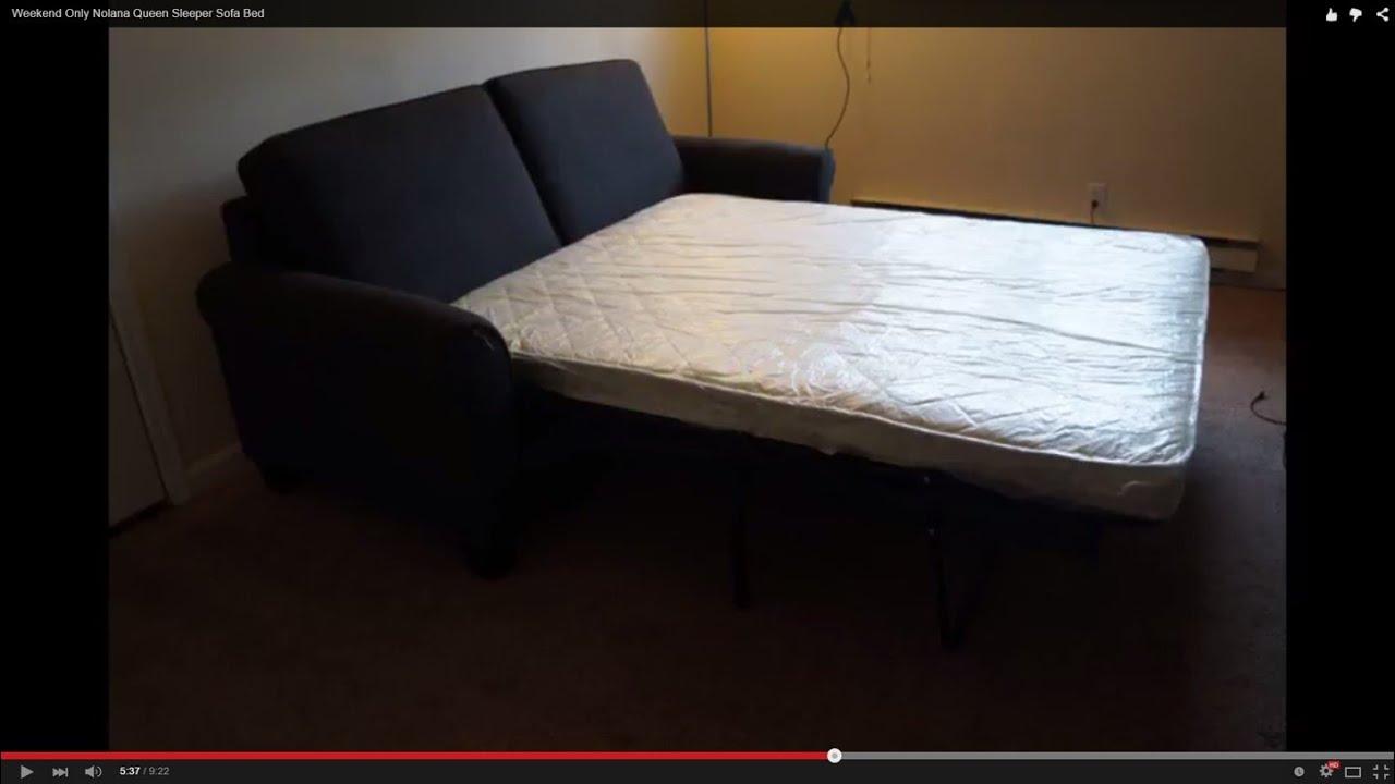 Genial You Tube Video 1718 Weekend Only Nolana Queen Sleeper Sofa Bed