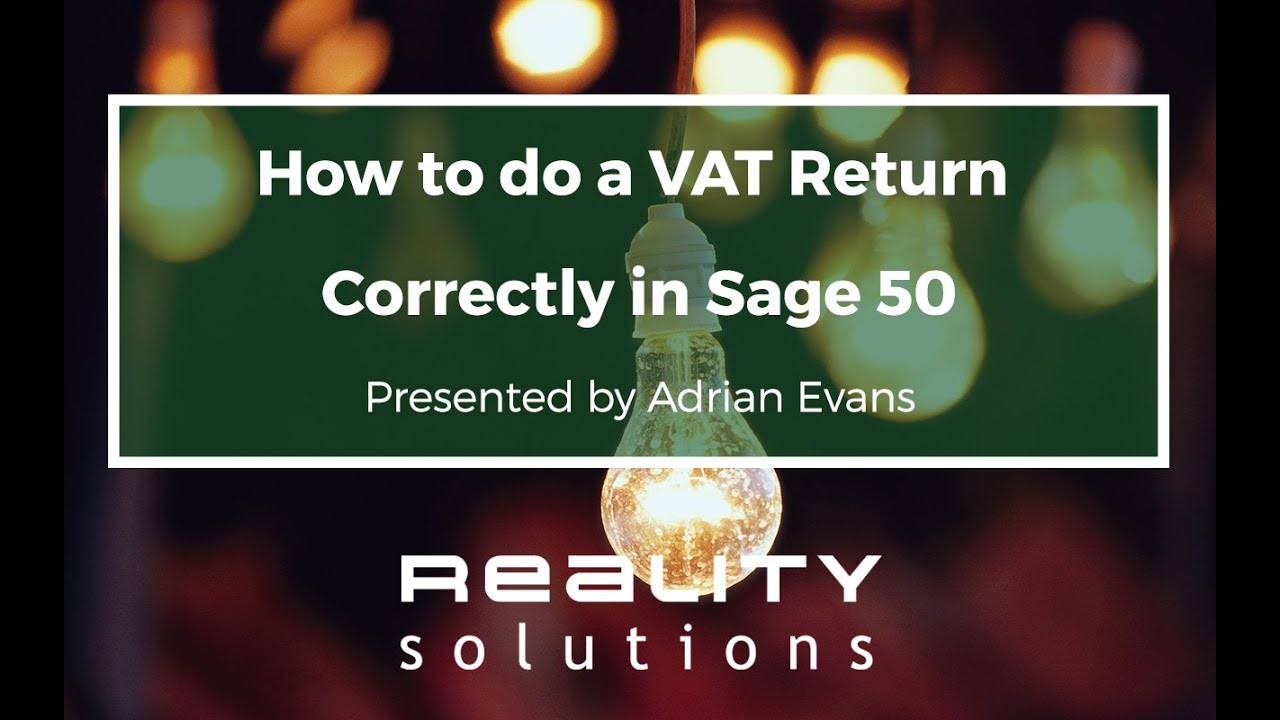 Sage 50 VAT Return