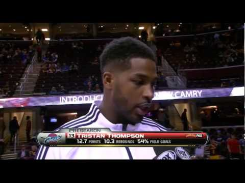 Tristan Thompson Kisses Pretty Reporter During Interview