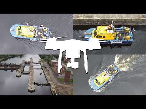 Survey Vessel On Manchester Ship Canal - DJI Phantom