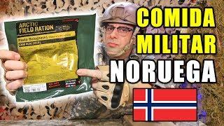 Probando COMIDA MILITAR de NORUEGA | Ración para frío extremo MRE Noruega Menu 19