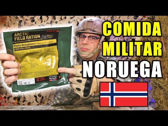 Probando COMIDA MILITAR de NORUEGA   Ración para frío extremo MRE Noruega Menu 19