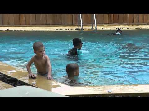 В бассейне видео верно