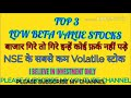 Top 3 Low Beta Value Stocks l Top Low Volatile Stocks of NSE and BSE I Stock Gyani l