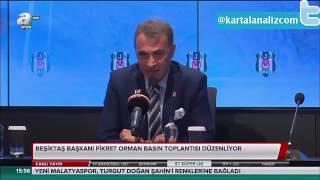 Fikret Orman:Beşiktaşa Ceza Verilirse Dünyayı Ayağa Kaldırırım.