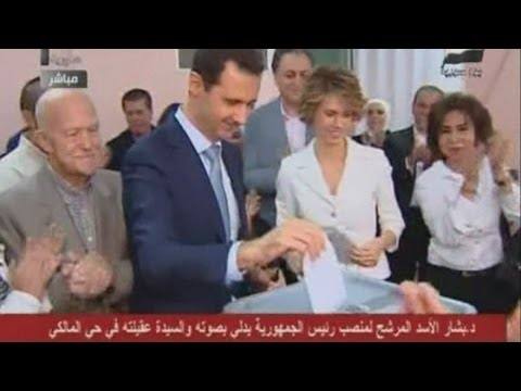 Syria Election: Assad supporters cast ballots with blood
