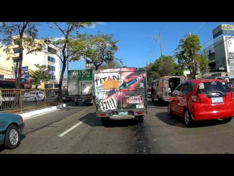 Philippines, driving by car from Sta Monica to Central Avenue | SJCAM SJ5000X FEIYUTECH WG