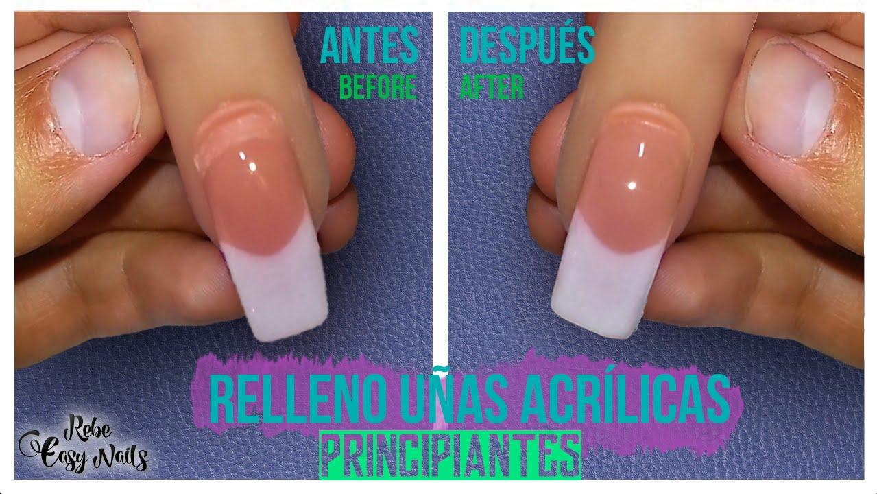Relleno Uñas Acrílicas Paso a Paso (Principiantes) // Fill,in Acrylic Nails Step by Step (Beginners)