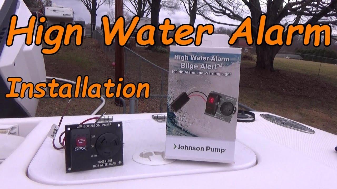 medium resolution of boat safety high water alarm bilge alert installation