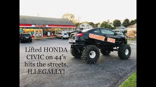 axle-swap-is-complete-lifted-honda-civic-on-44-s-hits-the-streets