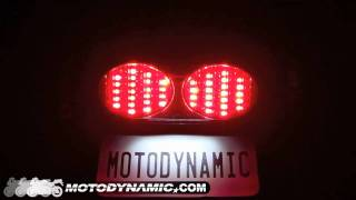 98 05 kawasaki zr7 s zx6r zx9r zzr600 sequential led tail lights