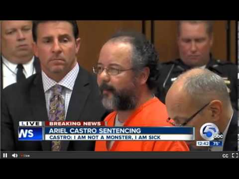 Ariel Castro Sentencing Hearing. Part 2. Life without parole plus 1000 years.