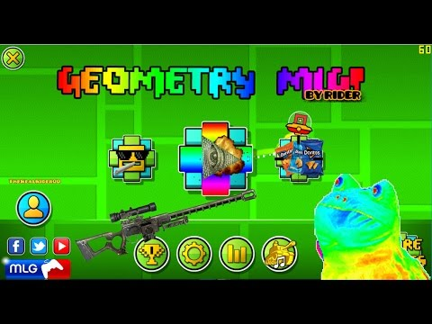 Geometry Dash 2.01 & 2.02 - MLG Texture Pack By Me || Especial 100 Subs