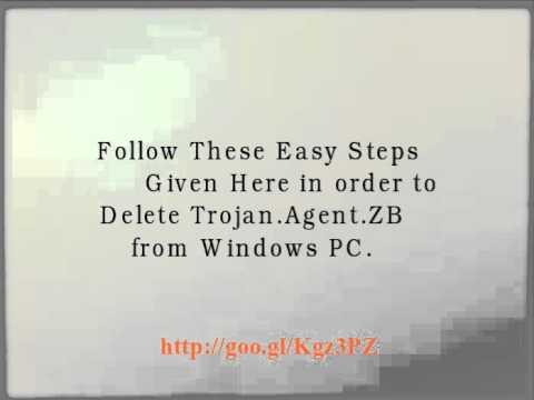 Trojan.Agent.ZB : Quickly delete Trojan.Agent.ZB from Windows PC