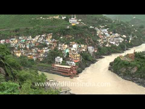 Sangam of river Alaknanda and Bhagirathi at Devprayag