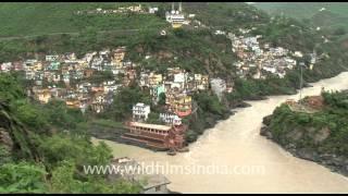 Sangam of river Alaknanda and Bhagirathi at Devprayag