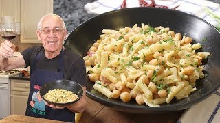 Pasta with Chickpeas Recipe (White Sauce Version) - Pasta e Ceci