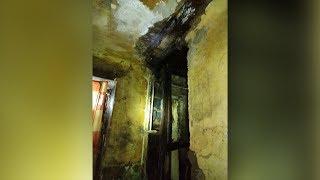 В Магнитке  рухнул гнилой потолок