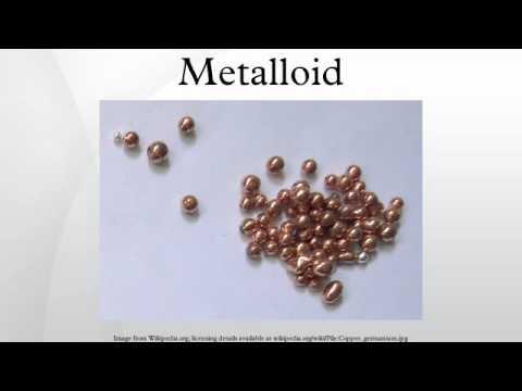 Metalloid   YouTube