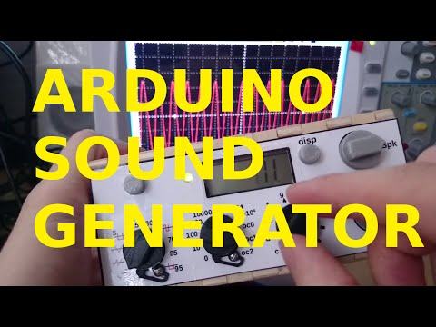 Multi-function Arduino waveform generator with speaker and LCD