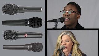 Neumann KMS 105 vs Shure KSM9 vs DPA D:facto II vs Earthworks SR40V Vocal Mic Comparison & Review