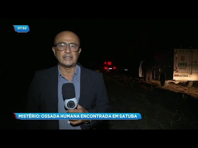 Ossada humana é encontrada em Satuba