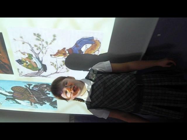 Изображение предпросмотра прочтения – ОльгаКоролёва читает произведение «Ворона и Лисица» И.А.Крылова