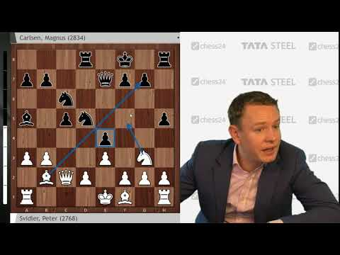 Svidler - Carlsen, Tata Steel Chess Round 6: Grandmaster Analysis