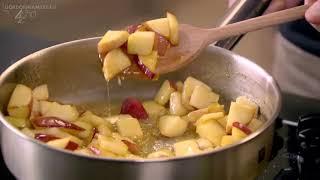 Рецепт от Гордона Рамзи Гренки с корицей и тушеными яблоками