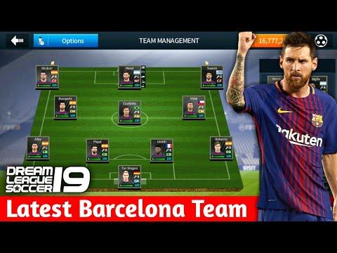 Create Fc Barcelona Team ★ Kits Logo & Players ★ Dream League Soccer 2018