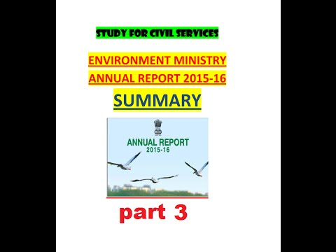 Environment Ministry Annual Report 2015-16 Report SUMMARY part 3